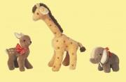 Replika Rehkitz, Elefant und Giraffe