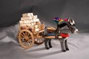 sizilianischer Eselswagen mit Esel Alpaca von Kösen