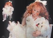 Künstlerpuppe Lelia Porzellan Kollektion Hildegard Günzel 2000 limtiert 40 Stück weltweit