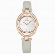 Swarovski, Damen , Armband Uhr, 5376830, STELLA, UHR, LEDERARMBAND, GRAU, ROSÉ, VERGOLDETES PVD-FINISH,