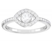 50 % Sale Swarovski Ring Luckily Evil Eye , Größe 52 Innenmaß: 16.5 mm Kristalle: weiss, Ring: rhodiniert Artikelnummer: 5409180 EAN: 9009654091809