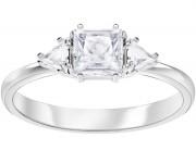 50 % Sale,  Größe 55 Innenmaß 17,5 mm Swarovski Attract Trilogy Ring, Gr. 55, weiss, rhodiniert, 5371381, 9009653713818
