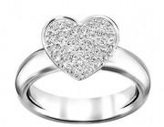 50 % Sale Swarovski 5190215 Damen-Ring EVEN Metall Silber mit Swarovski Steinen Größe 55 9009651902153