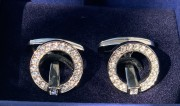 30 % Sale Swarovski Manchettenknöpfe 5015629 Farbe Silber Kristalle klar 9009650156298