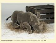 Studiotier Nashorn 7470 Fa. Kösen, Studio, Animal, Rhinoceros, 75 cm,