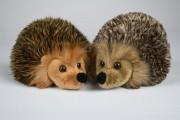 Grau / Braun meliert Uni-Toys, Igel, L89052A, Hedgehog, Erizo, Puppenstube, im Nikolaiviertel,