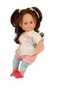 Puppe, Schlummerle, 32 cm, braune Haare, blaue, Schlafaugen, 2032851,  Made in Germany, Schildkroet, Spielpuppe, Sammlerpuppe , Klassikpuppe