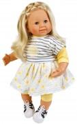 Puppe, Klara, 52 cm, blonde Haare, blaue Schlafaugen, Kleidung gelb/weiss/blau  Artikel-Nr.: 2152982,
