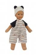 Puppe, Schmuserle, 30 cm ,Malhaar, blaue Malaugen, Kleidung blau/weiss  Artikel-Nr.: 2630966,