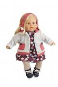 Puppe Susi 45 cm blonde Haare, blaue Schlafaugen, Kleidung winterlich in blau/grau  Artikel-Nr.: 3345975 Fa. Schildkroet, Spielpuppe, Sammlerpuppe , Klassikpuppe,