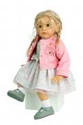 Sammlerpuppe Mara 60 cm von Gudrun Legler, blonde Haare, Kleidung rose/weiss  Artikel-Nr.: 50160763