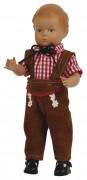 """Schildkrötpuppe Hans Größe 25 cm braune Haare """"Made in Germany""""  Artikel-Nr.: 8025551 Fa. Schildkröt"""