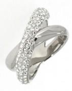 50 % Sale Swarovski Damenring 5367596 Crystaldust Cross Ring, White, Palladium plating Größe 55 9009653675963