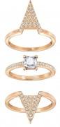 50 % Sale Swarovski  Funk Ring Set  5241272 Size: 55 Innenmaß: 17.5 mm Damenring Steinart: Swarovski-Kristall 9009652412729