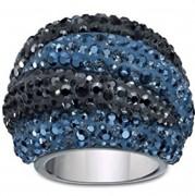 50 % Sale Swarovski original Appolon Ring 1160599 blau schwarz Größe 58 Innendurchmesser 18,4 mm