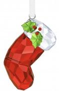 50 % Sale Swarovski Santas Socke 5223614 , 9009652236141 Farbe : Rot weiß grün  Size: 4.7 x 2.5 x 1.7 cm Designer: Viktoria Holzknecht