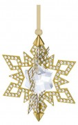 50 % Sale Swarovski 2015 Yellow Gold Tone Christmas Star Ornament 100% Authentic Artikel Nr.  5135809 EAN: 9009651358097