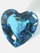 50 % Sale Swarovski Herz blau 2006 SCS Eternity Heart blue Artikel Nr. 844184 EAN 9003148441842