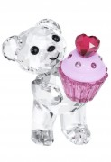 20,%, Sale, Swarovski Kris Bear in klarem Kristall präsentiert einen Cupcake, Krisbär, Artikel Nr. 5004484 EAN 9009650044847 Ungefähre Größe: 4 x 3 x 3.5 cm