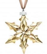 2015- / 30 % Sale Swarovski 5135903 Christmas Ornament Weihnachtsstern 2015 Annual edition Jahresstern gold