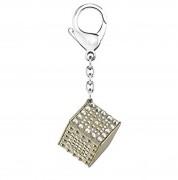 50 % Sale Swarovski Dice Gold Tone Keyring, Schlüsselanhänger 5095935,