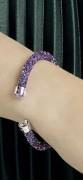 50 % Sale Swarovski Crystaldust Cuff Purple M Artikel Nr. 5385820 EAN 9009653858205